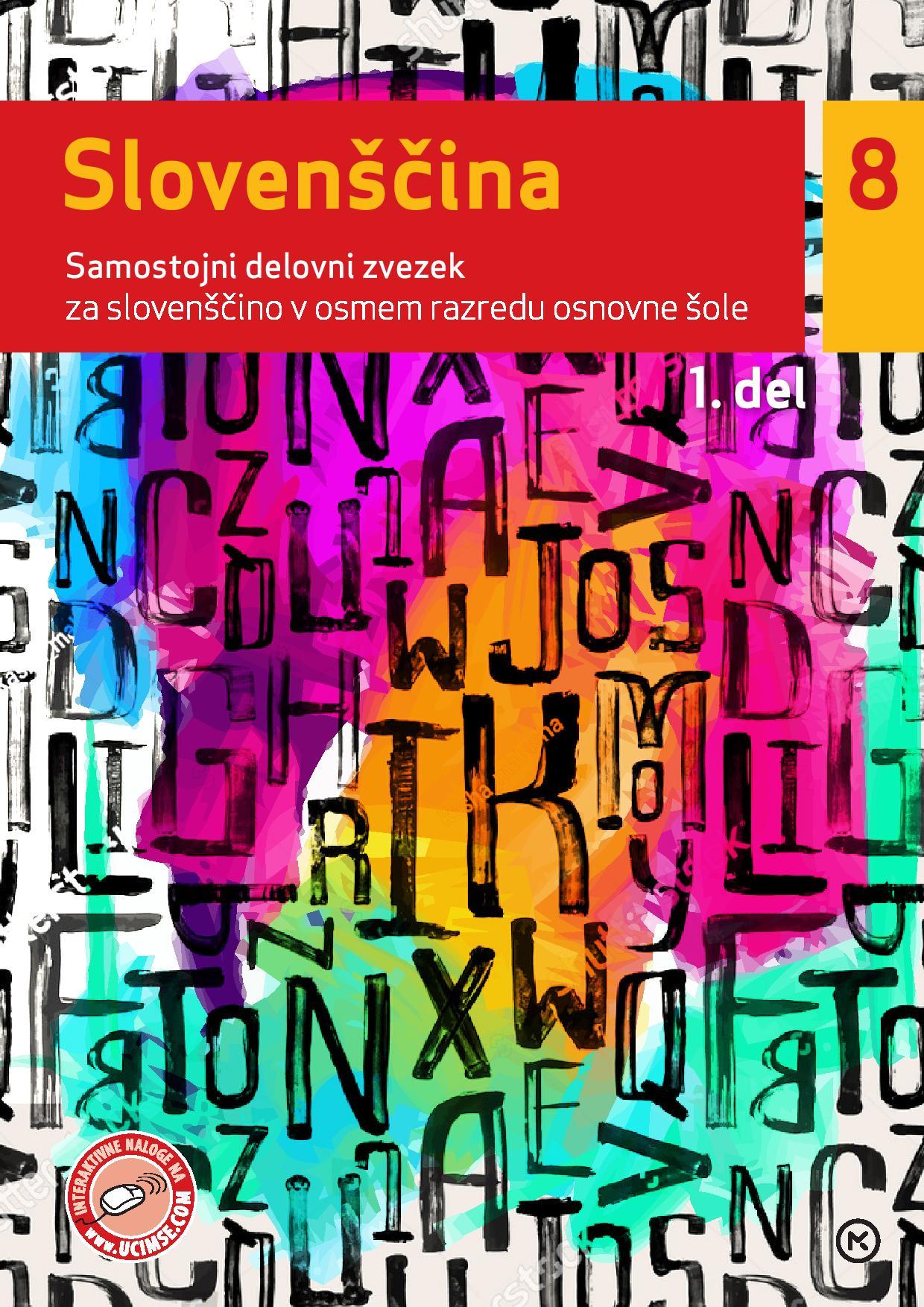 slovenščina 8, 1. del novo